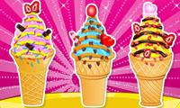 Cupcakes de conos de helado