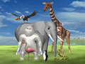 Olahraga Yeti 5 - Mengendarai Flamingo