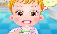 Bébé Hazel : Brossage des dents
