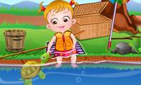 Dia de Pescaria da Bebê Hazel
