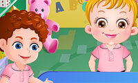Baby Hazel naar de peuterschool