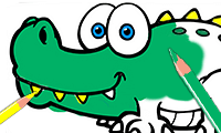 Livre de Coloriage Alligator