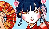 Geisha: Make-up & anziehen