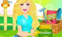 Barbie in de tuin