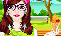 Ice Cream Girl Dressup