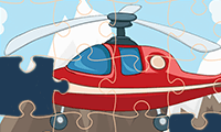 Jigsaw Puzzle: Cartoon Helicopter