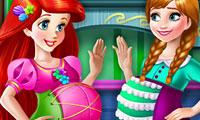 Ariel e Anna amiche in dolce attesa