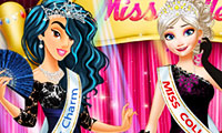 Princesses at Miss College Pageant: Dress Up Game