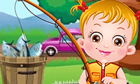 Baby Hazel Fishing Time
