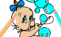Coloring Book: Cute Babies