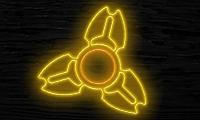 Неоновый свет от фиджет спиннера онлайн