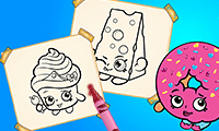 Coloring Book: Shopkins