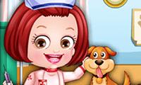 Baby Hazel: Anziehen als Tierärztin