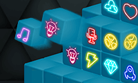 Mahjong al neon 3D