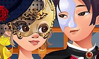 Flirten op het gemaskerd bal