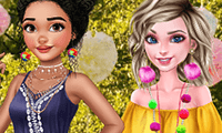 Princesses: Pom Poms Fashion