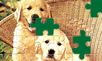 Jigsaw Puzzle: Cute Cartoon Puppies