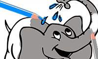 Coloring Book: Cartoon Elephants