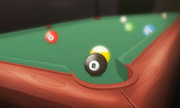 Billard-Duell: 8-Ball-Poolbillard