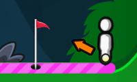 Online golf met stokmannetje