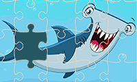 Jigsaw Puzzle: Cartoon Sharks