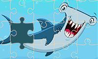 Jigsaw Puzzle: Cartoon Sharks