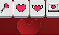 Alla hjärtans dags Mahjong