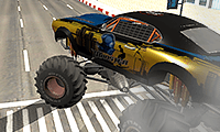 Monstertruck vs het bos