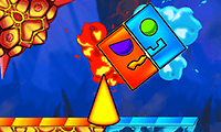 Fire and Water: Geometry Dash