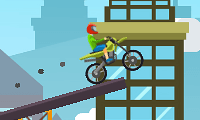 Course de moto extrême