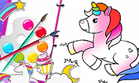 Coloring Book: Fabulous Cute Unicorn