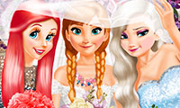 Princesses Double Wedding: Dress Up Game