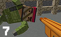 Blocky Combat Swat: Killing zombie