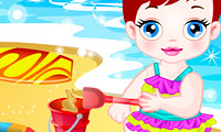 Baby Lulu i sanden