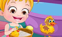 Bebê Hazel: Vida de Pato